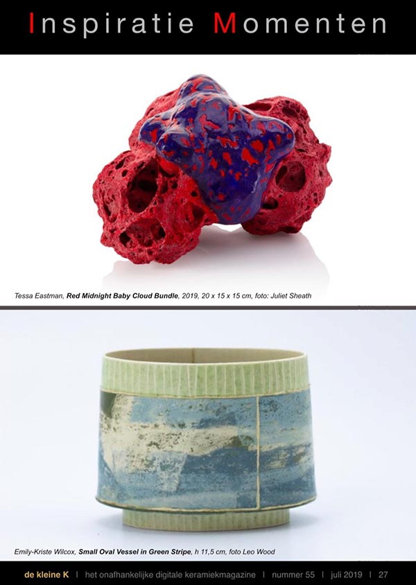 Tessa Eastman - The Independent Digital Ceramics Magazine Jul 2019