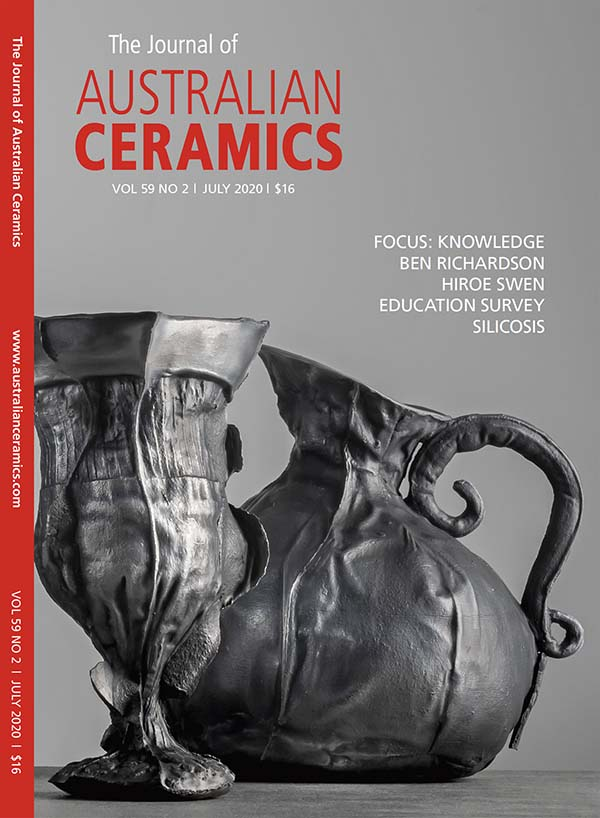 Cover of The Journal Of Australian Ceramics magazine featuring Dripping With Understanding by Kylie Gusset