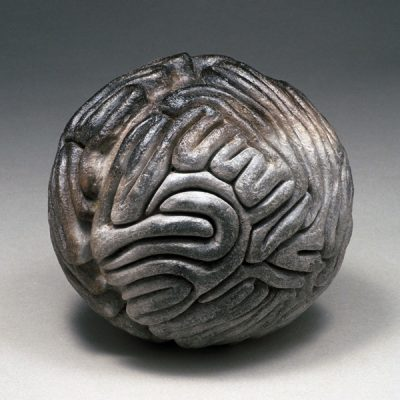 BBQ Brain ceramic sculpture by Tessa Eastman