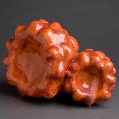 Blood Crater ceramic sculpture by Tessa Eastman