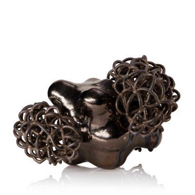 Bronze Gold Cloud Bundle ceramic cloud sculpture by Tessa Eastman