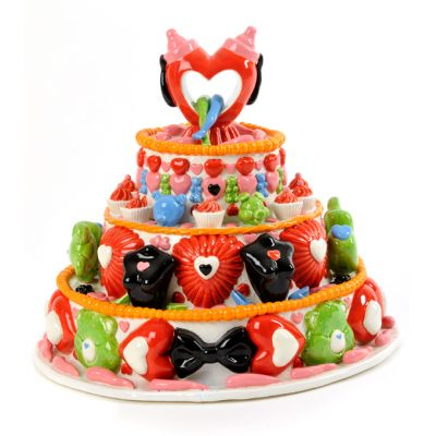 Care Bear Love Cake ceramic cake sculpture by Tessa Eastman