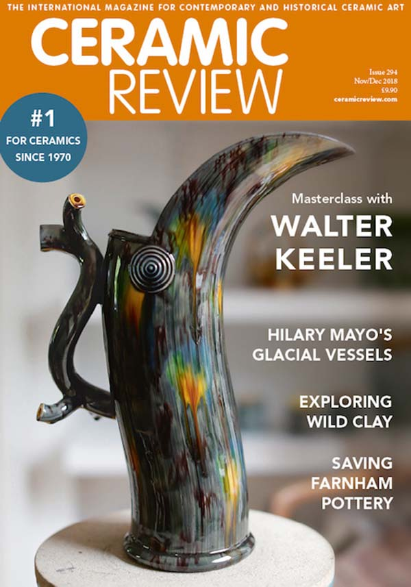 Ceramic Review Issue 294 Nov-Dec 2018 cover
