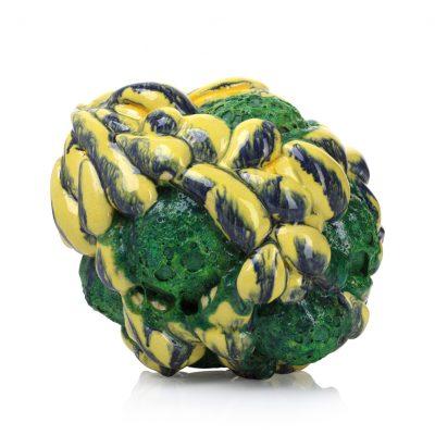 Cloudburst Green Yellow ceramic sculpture by Tessa Eastman
