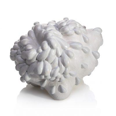 White Cloudburst ceramic sculpture by Tessa Eastman