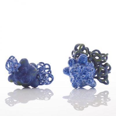 Cobalt Chrome Baby Cloud Bundles ceramic sculptures by Tessa Eastman