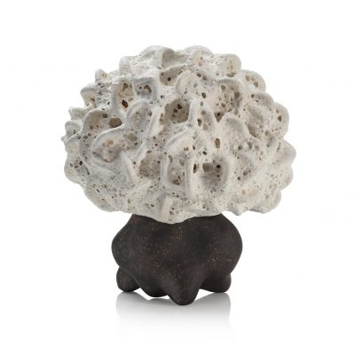 Concealed Frothy White Cloud glazed ceramic sculpture by Tessa Eastman