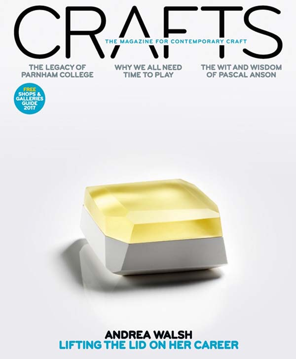 Crafts – the magazine for contemporary craft Issue 267 July-Aug 2017 cover