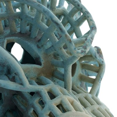 Cypress Morphon (detail) ceramic sculpture by Tessa Eastman