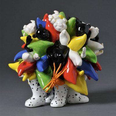 Dotty Boots ceramic sculpture by Tessa Eastman