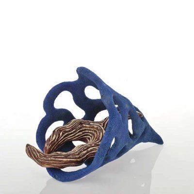 Glistening Branch ceramic sculpture by Tessa Eastman