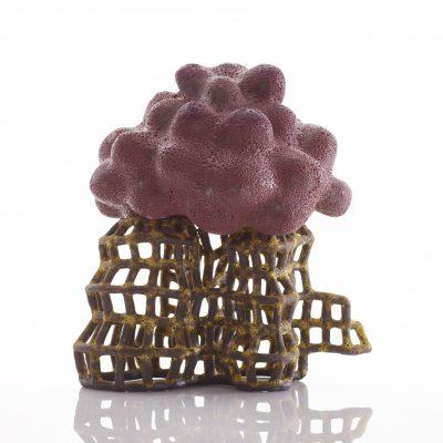 Ladder to Mushroom Cloud ceramic sculpture by Tessa Eastman