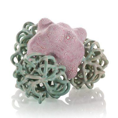 Lollipop Baby Cloud Bundles glazed ceramic sculptures by Tessa Eastman