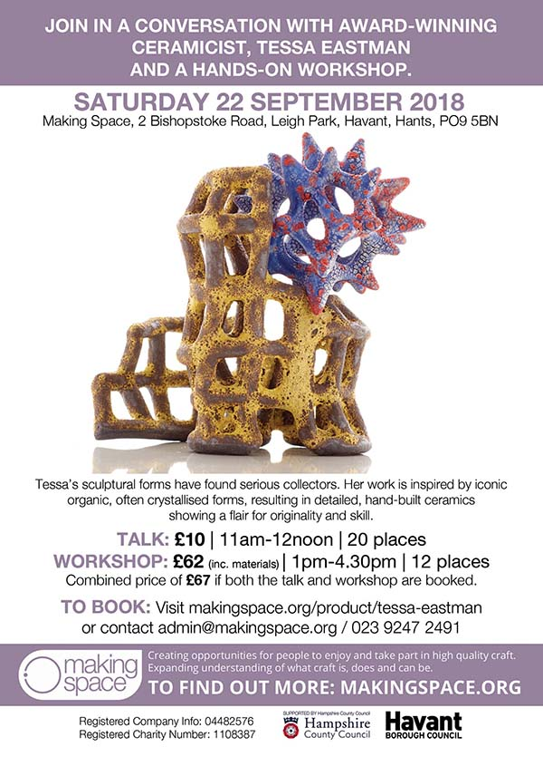 Making Space Blog 14th Aug 2018 event brochure