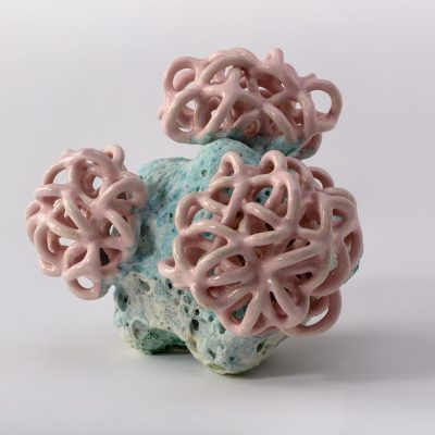 Mint Baby Cloud Bundle IV ceramic sculpture by Tessa Eastman