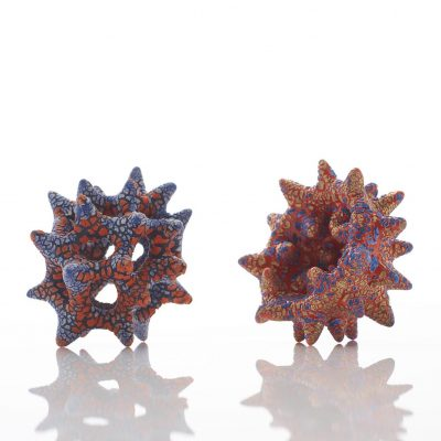 New Arrival I and II glazed ceramic sculptures by Tessa Eastman