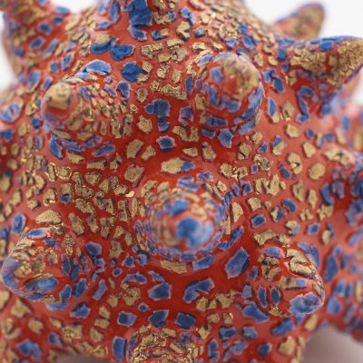 New Arrival I (detail) ceramic sculpture by Tessa Eastman