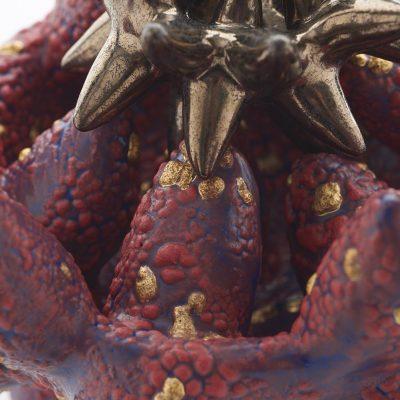 Pollinating Creature III (detail) ceramic sculpture by Tessa Eastman