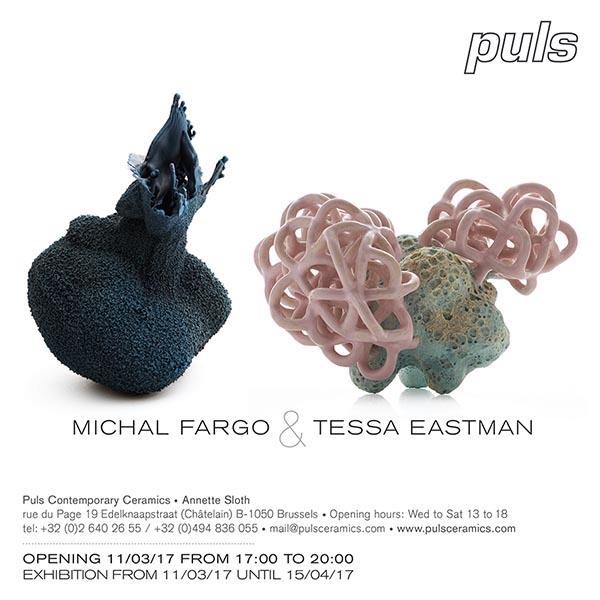 Puls Contemporary Ceramics Gallery, 11th March to 15th April 2017 opening invitation