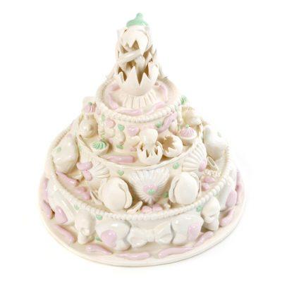 Rumpy Humpy Death Cake ceramic sculpture by Tessa Eastman