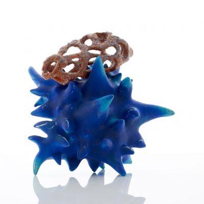 Shark Attack with Verruca Vulgaris ceramic sculpture by Tessa Eastman