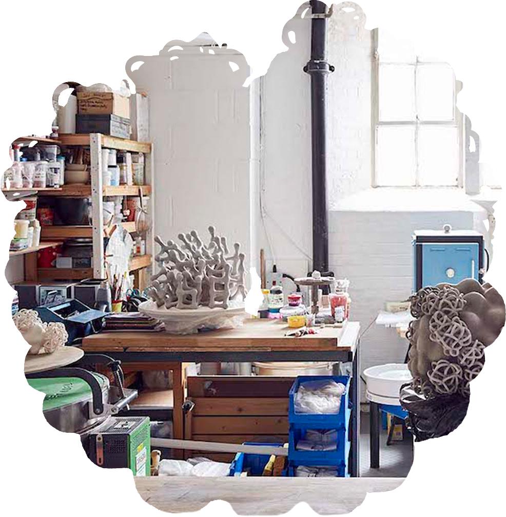 Tessa Eastman's ceramic studio