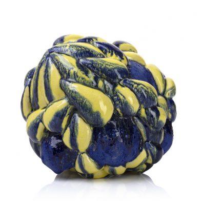 Yellow Midnight Cloudburst ceramic sculpture by Tessa Eastman