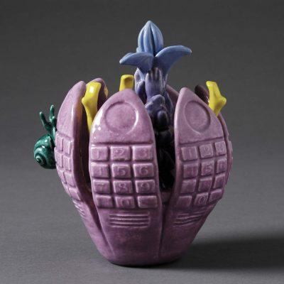 Autumn Crocus ceramic sculpture by Tessa Eastman