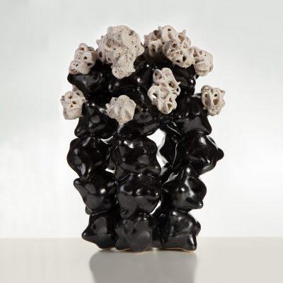Erupting Frothy Cloud Cluster ceramic sculpture by Tessa Eastman