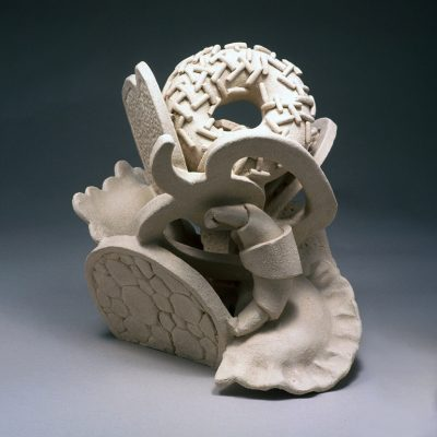 Happy Meal ceramic sculpture by Tessa Eastman - back
