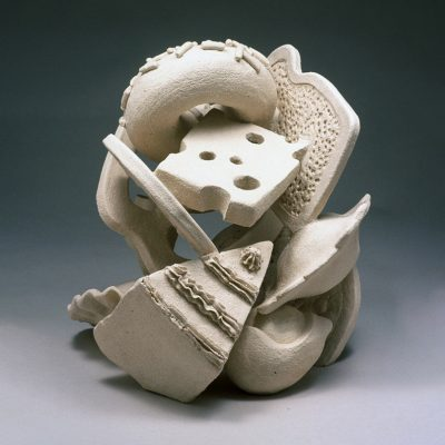 Happy Meal ceramic sculpture by Tessa Eastman - front