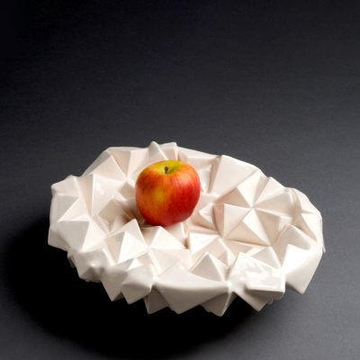 Inside Outside ceramic bowl sculpture by Tessa Eastman