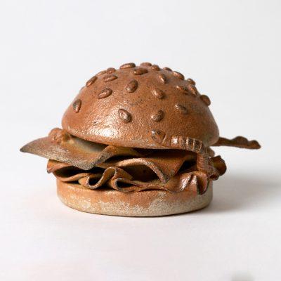 Mackie Dees Sting Ray n' Cheese ceramic sculpture by Tessa Eastman - side