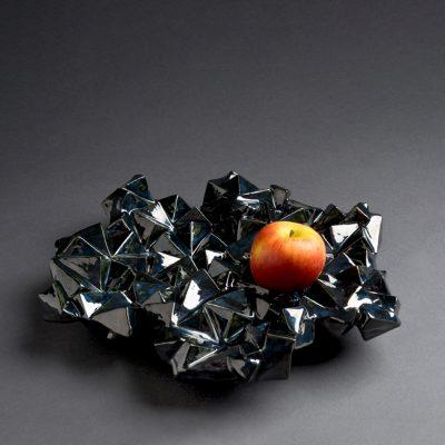 Mystique ceramic bowl sculpture by Tessa Eastman