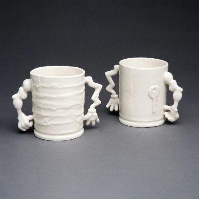 Glazed Porcelain Safe Hands Mugs by Tessa Eastman