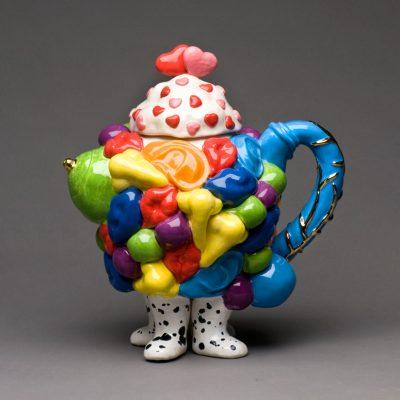 Sex Pot ceramic teapot sculpture by Tessa Eastman