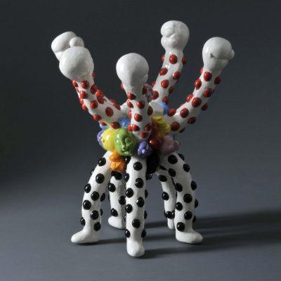Teddie Noonie Nookie ceramic sculpture by Tessa Eastman