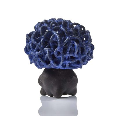 Concealed Blue Electric Cloud glazed ceramic sculpture by Tessa Eastman