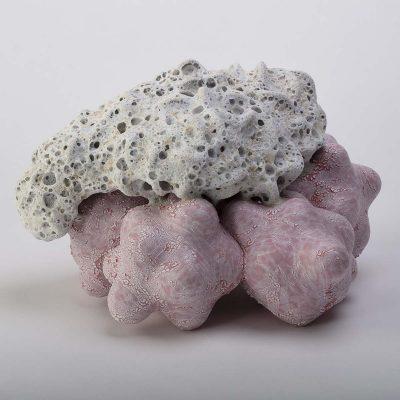 Erupting Marshmallow Fluff Cloud Cluster glazed ceramic sculpture by Tessa Eastman
