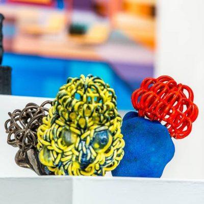Baby Cloud Bundle Trio glazed ceramic sculpture by Tessa Eastman
