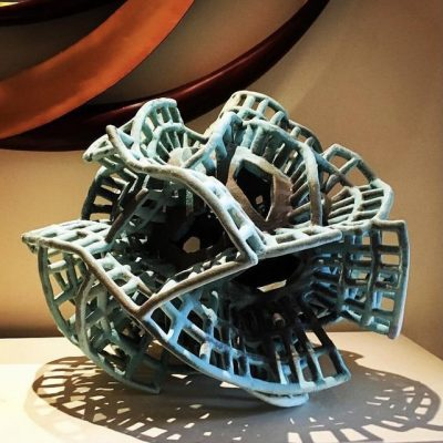 Cypress Morphon glazed ceramic sculpture by Tessa Eastman