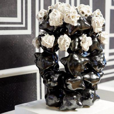 Erupting Frothy Cloud Cluster glazed ceramic sculpture by Tessa Eastman