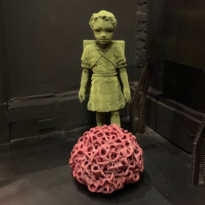 High Density Big Red Cloud ceramic sculpture by Tessa Eastman