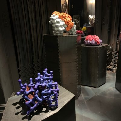 Purple Crystal in Midnight Element glazed ceramic sculpture by Tessa Eastman