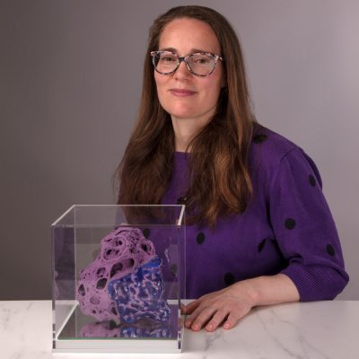 Purple Midnight Baby Cloud Bundle glazed ceramic sculpture by Tessa Eastman