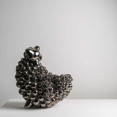 Pussykin Cloud glazed ceramic sculpture by Tessa Eastman