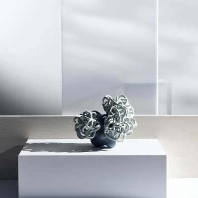 Sea Mint Baby Cloud Bundle IV glazed ceramic sculpture by Tessa Eastman