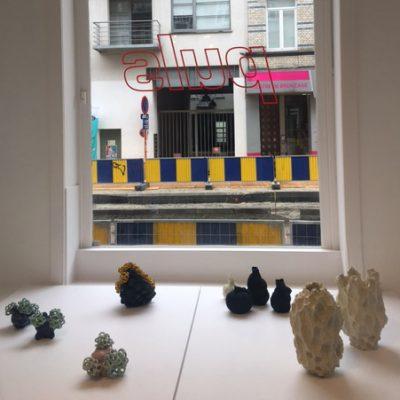 Sea Mint Baby Cloud Bundles glazed ceramic sculpture by Tessa Eastman