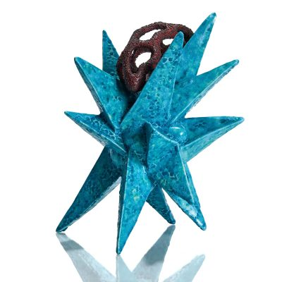 Starburst with Barnacle glazed ceramic sculpture by Tessa Eastman